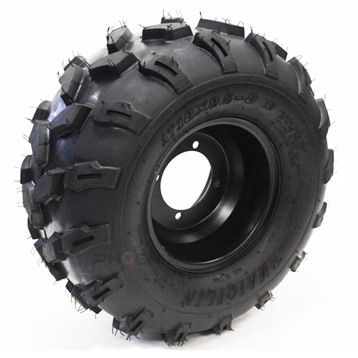 2782 ATV 4輪 バギー 8インチ タイヤ ホイール 4穴 18×9.5-8 左