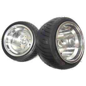 ジャイロ X UP キャノピー等の汎用 ホイール タイヤ セット センターキャップ ポン付 6穴 2本セット