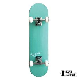 スケートボード 完成品 子供用 HEAVEN SKATE BOARD JUNIOR ヘブン ハイスペックコンプリート 高品質 MINT BLUE ミントブルー キッズ用 ジュニア用 フルカナディアンメイプル ソフトウィール ABEC-7 28.5x7.375インチ 約72.4×18.4センチ訳あり 特別価格