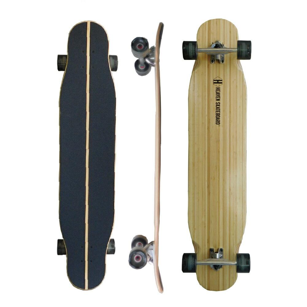 訳あり-44インチ・ロングスケートボードHEAVEN SPIN WAVE 44約113.6×24.1センチ今注目のダンシングスタイル!高品質ロングスケートボード ヘブン スピンウェーブ44スノボサーフィンオフトレ サーフスケート カービングスケートボード