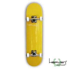 スケートボードコンプリートVitamin 31×8 HEAVEN PERFECT SKATE COMPLETEカラー:バナナイエロー Banana Yellow1番人気のハイスペックモデル 1番人気のサイズ 高品質 カナディアンメープル ヘブン スケボー