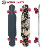 ロングスケートボードダンシングスケートボードロンスケ45インチ完成品YOROISKATEBOARDJUJU45スノボオフトレサーフィントレーニングバンブーデッキ大胆なしなりホイールベース長めデッキ