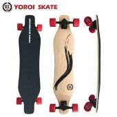 ロングスケートボードカービングスケートボードロンスケ38インチ完成品YOROISKATEBOARDRYU38スノボオフトレバンブーデッキ大胆なしなりホイールベース長めデッキ