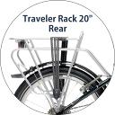 【送料無料】DAHON ダホン traveler rack 20 トラベラーラック リア ラック キャリア 折りたたみ 自転車