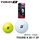 【土日もあす楽】BRIDGESTONEGOLF(ブリジストンゴルフ)TOURBXBマークゴルフボールホワイトイエロー3P3個入り8BWXJ3P