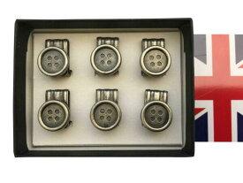サスペンダーボタン クリップボタン 英国製 Albertthurston アルバートサーストーン 稀少 ブレイスボタンx6 B118