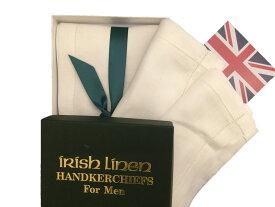 【楽ギフ_包装】ポケットチーフ リネンチーフ チーフ メンズ 紳士 英国製 Fergusons モーストフォーマル 16BOX3枚組 C115