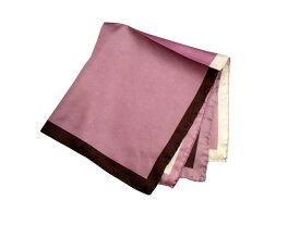 ポケットチーフ シルクチーフ メンズ 紳士 Silk 英国 マイケルソン of ロンドン 大判チーフ 4Colour/Plum Size45x45cm C149