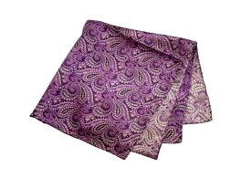 ポケットチーフ シルクチーフ メンズ 紳士 Silk 英国 マイケルソン of ロンドン 大判チーフ Purple Paisley Size45x45cm C161