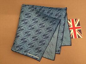 ポケットチーフ シルク チーフ Silk ターンブル&アッサー Turnbull&Asser 英国製 サンダーバード Thnderbirds 限定品 コラボ Blue 青 C242