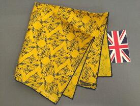 ポケットチーフ シルク チーフ Silk ターンブル&アッサー Turnbull&Asser 英国製 サンダーバード Thnderbirds 限定品 コラボ Yellow C243