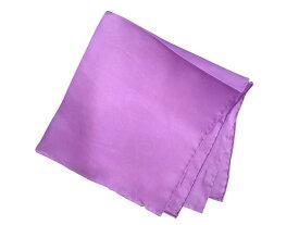 ポケットチーフ シルクチーフ メンズ 紳士 Silk 英国 マイケルソンofロンドン 大判チーフ Size45x45cm Solid パープル 紫 Purple C299