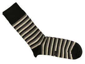 靴下 紳士 メンズソックス ハーフホーズ ジョッキー Jockey 米国 アンディウォーホル コットン 綿 黒色 ブラック Black/Stripe K066
