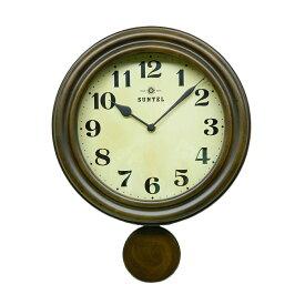 振り子 時計 壁掛け 電波 木製 ウロボロス ブラウン 日本製 おしゃれ ギフト プレゼント レトロ アンティーク インテリア