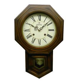 ≪楽天ランキング受賞≫さんてる 八角 ボンボン時計 壁掛け 日本製 木製 おしゃれ ギフト アンティーク レトロ インテリア ローマ文字