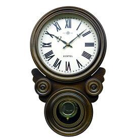 ぼんぼん ボンボン時計 壁掛け 日本製 ブラウン 木製 四ツ目 四つ丸 だるま ギフト プレゼント アンティーク レトロ インテリア リビング