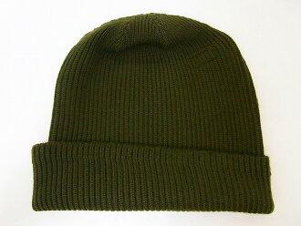 Buzz 位的 [适当] 针织羊毛帽机修工 4 机修工帽 BR02241 (橄榄)