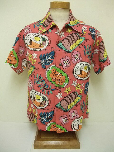 "SUN SURF[サンサーフ] アロハシャツ KEONI OF HAWAII ""KAUKAU ONO"" (RED)"
