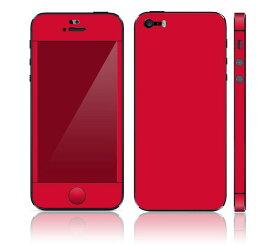 【即納】 iPhone SE/5S DecalSkin スキンシール [CP6/赤 レッド] デコシール デコシート 前面シール 背面シール iPhone SE 5S iPhoneSE iPhone5S 送料無料 アイフォン アイフォーン アイホン