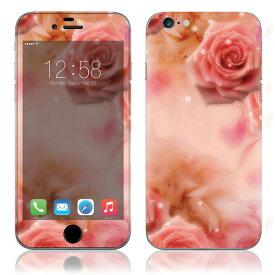 【即納】 iPhone6/6Plus/6s/6sPlus スキンシール DecalSkin [BF16/ピンクローズ] デコシール デコシート 背面シール iPhone 6 6Plus 6s 6sPlus iPhone6 iPhone6Plus iPhone6s iPhone6sPlus 送料無料