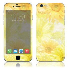 【即納】 iPhone6/6Plus/6s/6sPlus スキンシール DecalSkin [BF18/Yellow Flowers] デコシール デコシート 背面シール iPhone 6 6Plus 6s 6sPlus iPhone6 iPhone6Plus iPhone6s iPhone6sPlus 送料無料