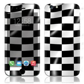 【お取寄せ】 iPhone6/6Plus/6s/6sPlus スキンシール DecalSkin [BZ15/チェッカー] デコシール デコシート 背面シール iPhone 6 6Plus 6s 6sPlus iPhone6 iPhone6Plus iPhone6s iPhone6sPlus 送料無料