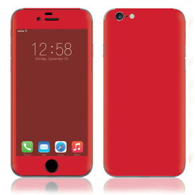 【即納 sg】 iPhone6 6Plus 6s 6sPlus スキンシール DecalSkin [CP6 赤 レッド ] デコシール デコシート 背面シール iPhone 6 Plus 6s Plus iPhone6Plus iPhone6s iPhone6sPlus 送料無料