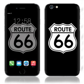 【即納】 iPhone6/6Plus/6s/6sPlus スキンシール DecalSkin [SN25/Route 66] デコシール デコシート 背面シール iPhone 6 6Plus 6s 6sPlus iPhone6 iPhone6Plus iPhone6s iPhone6sPlus 送料無料