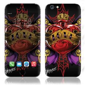 【即納】 iPhone6/6Plus/6s/6sPlus スキンシール DecalSkin [WL3/タトゥ3] デコシール デコシート 背面シール iPhone 6 6Plus 6s 6sPlus iPhone6 iPhone6Plus iPhone6s iPhone6sPlus 送料無料