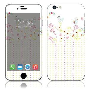 【iPhone6/6Plus】スキンシールYU43/小鳥たち【即納】[アイフォンアイフォーンアイホン]かわいい/人気/おしゃれ/デコ/ステッカー/スマホ/保護/シート/シール/背面/iphone6plus/カバー/ケース