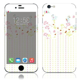 【即納】 iPhone6/6Plus/6s/6sPlus スキンシール DecalSkin [YU43/小鳥たち] デコシール デコシート 背面シール iPhone 6 6Plus 6s 6sPlus iPhone6 iPhone6Plus iPhone6s iPhone6sPlus 送料無料