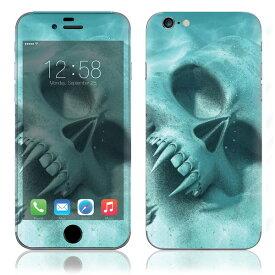 【お取寄せ】 iPhone6/6Plus/6s/6sPlus スキンシール DecalSkin [Z10/バンパイア スカル] デコシール デコシート 背面シール iPhone 6 6Plus 6s 6sPlus iPhone6 iPhone6Plus iPhone6s iPhone6sPlus 送料無料