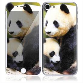【お取寄せ】 iPhone7 7 Plus スキンシール DecalSkin [AN10/赤ちゃん パンダ ママ 親子] デコシール デコシート 背面シール iPhone 7 7Plus iPhone7Plus 送料無料