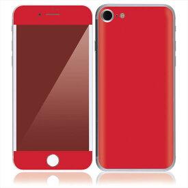 【即納】 iPhone7 7 Plus スキンシール DecalSkin [CP6 赤 レッド ] デコシール デコシート 背面シール iPhone 7 7Plus iPhone7Plus 送料無料