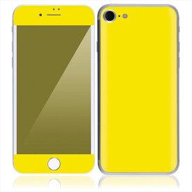 【即納】 iPhone7 7 Plus スキンシール DecalSkin [CP8 イエロー 黄 ] デコシール デコシート 背面シール iPhone 7 7Plus iPhone7Plus 送料無料