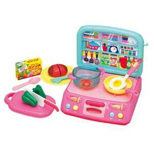 ジュ〜ジュ〜キッチンセット 本格的なガスレンジで楽しくお料理! いろんな小物が付いてるおままごとセット ごっこ遊び おもちゃ 知育玩具