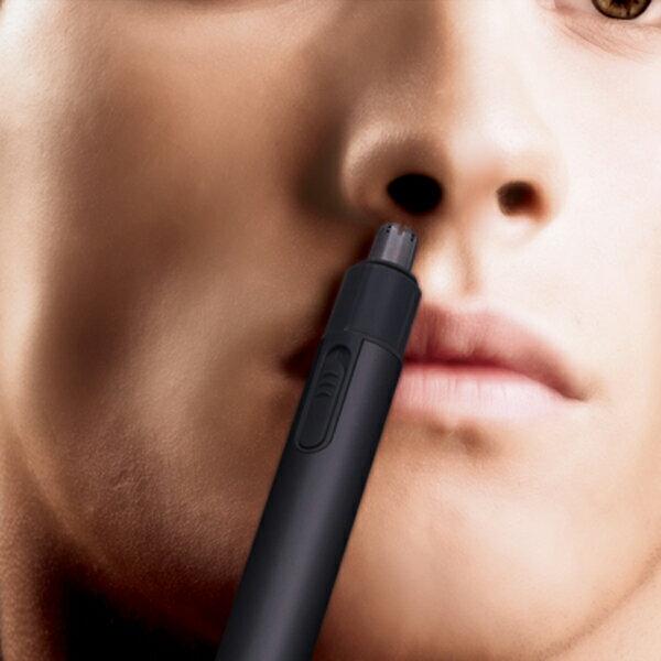 送料無料 鼻毛カッター 耳毛カッター ノーズトリマー ブラック 鼻毛バリカン 鼻毛切り 鼻毛シェーバー エチケットカッター 乾電池式 男性用 女性用 メンズ レディース ポイント消化