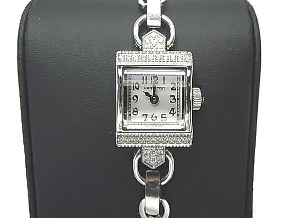 ハミルトン ダイヤモンド入り レディース 腕時計 HAMILTON ヴィンテージ 時計【中古】【送料無料】時計
