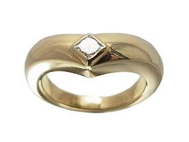 カルティエ トリアンドル リング ダイヤ 750 YG Cartier 指輪【中古】
