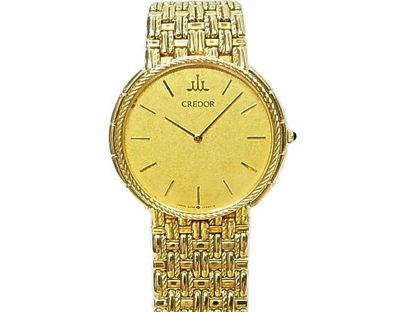 セイコー クレドール18KT 金無垢 18金 メンズ 腕時計 SEIKO 【中古】K18 金時計 クオーツ 750 イエローゴールド 時計