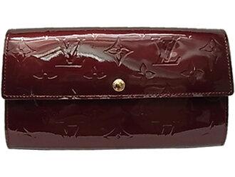 르이비톤모노그람베르니포르트포이유・사라장 지갑 아마 랜트 M91521 LOUIS VUITTON 소품 지갑 비통미품