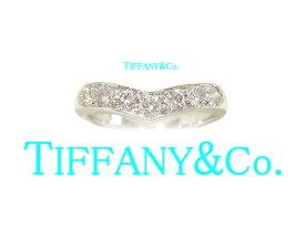 :ティファニー Vバンドリング プラチナ/Pt950 ダイヤモンド リング TIFFANY&Co. 指輪【中古】