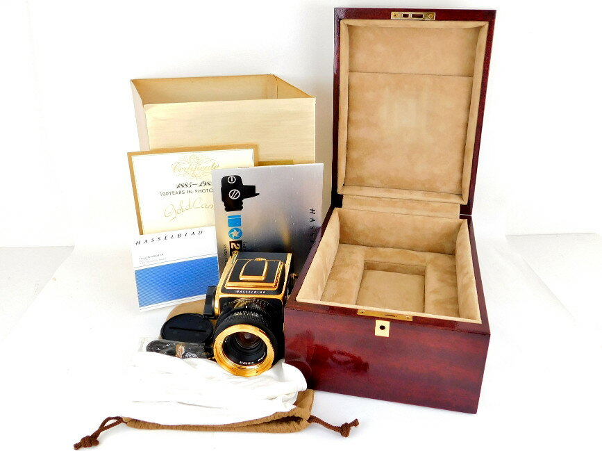 【中古】正規品 HASSELBLAD SHRIRO TRADING CO.,LTD Gold Camera 1885-1985 100 YEARS IN PHOTOGRAPHY NO.457 2000FC/M NO. RI-1520301 PLANAR F f2.8 80m/m NO.5874799 MAGAZIN A12 NO.RI-3261745 ハッセルブラッド 【送料無料】【店頭受取対応商品】