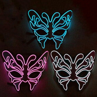 Glowing mask Butterfly Butterfly Butterfly beautiful butterflies clean beautiful pretty face Helloween Halloween fancy dress costume party event Festival wedding parties cosplay make b lights