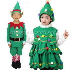 一部予約 コスプレ服 キッズ用 クリスマス クリスマスツリー 小人 妖精 子供用 こども用 男の子 女の子 幼児 園児 コスプレ衣装 コスチューム ハロウィン 秋 冬 サンタコスチューム クリスマス衣装 クリスマスパーティー