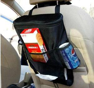予約 車載用保冷保温バッグ シートポケット 保冷バッグ 車 収納 ドリンク 小物 ホルダー ティッシュ カバー ペットボトル クーラー 収納 シートバックポケット ブラック