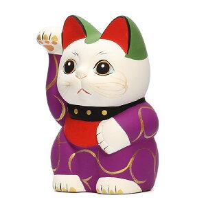 ■KARAKUSAMANEKINEKOSPURPLE(唐草招き猫パープルS紫唐草)【あす楽対応】