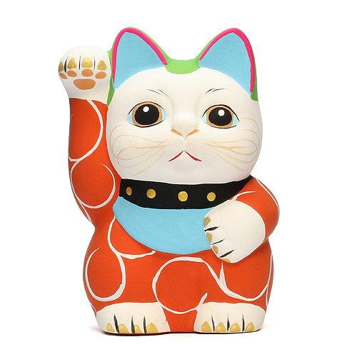 KARAKUSA MANEKI NEKO S RED (唐草 招き猫 レッド S 赤唐草) 【AS】