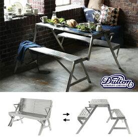 【ダルトン DULTON】 STAINLESS TABLE & BENCH DOUBLE (ステンレス テーブル ベンチ ダブル) H945-1254D 【送料無料】【P5B-DT】