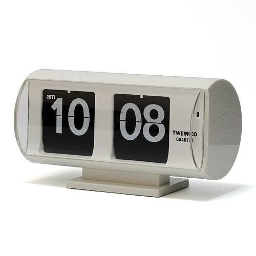 ■ TWEMCO QT-30T PATAPATA CLOCK WHITE (トゥウェンコ QT-30T パタパタ クロック ホワイト) 【送料無料】 【ポイント10倍】 【AS】